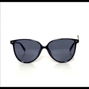 Le Specs Eternally Black Rounded Sunglasses